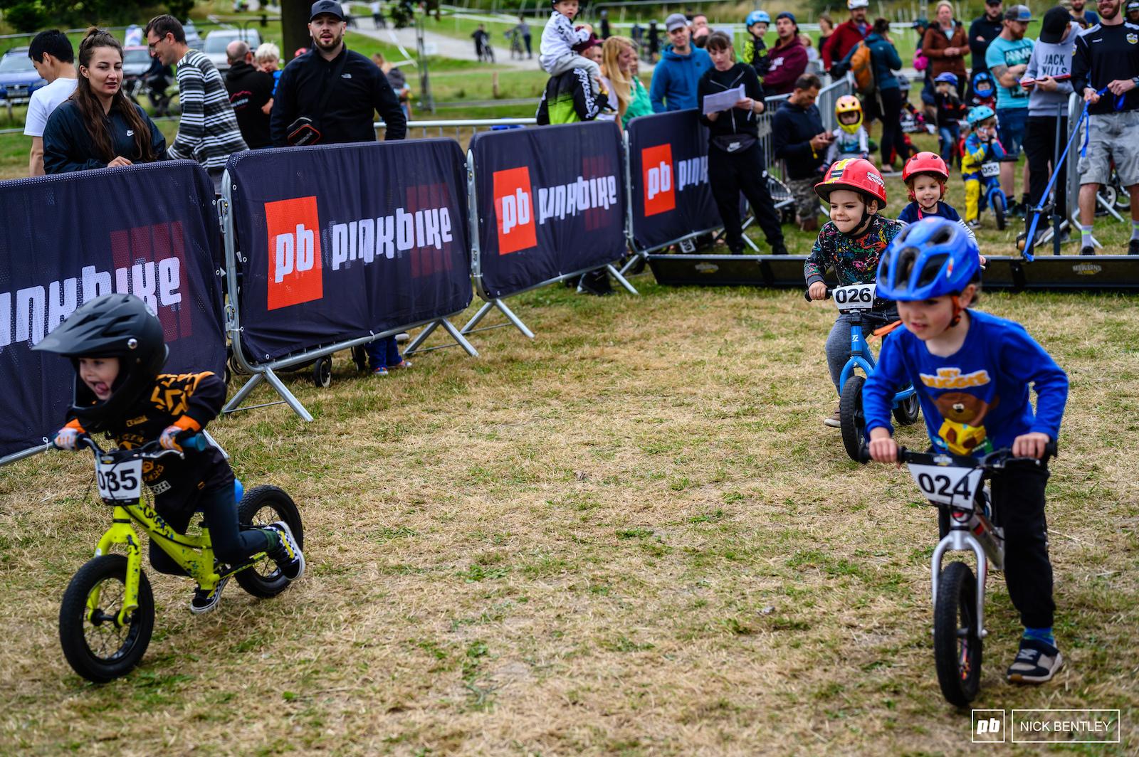 Even balance bikes conquer the start gate