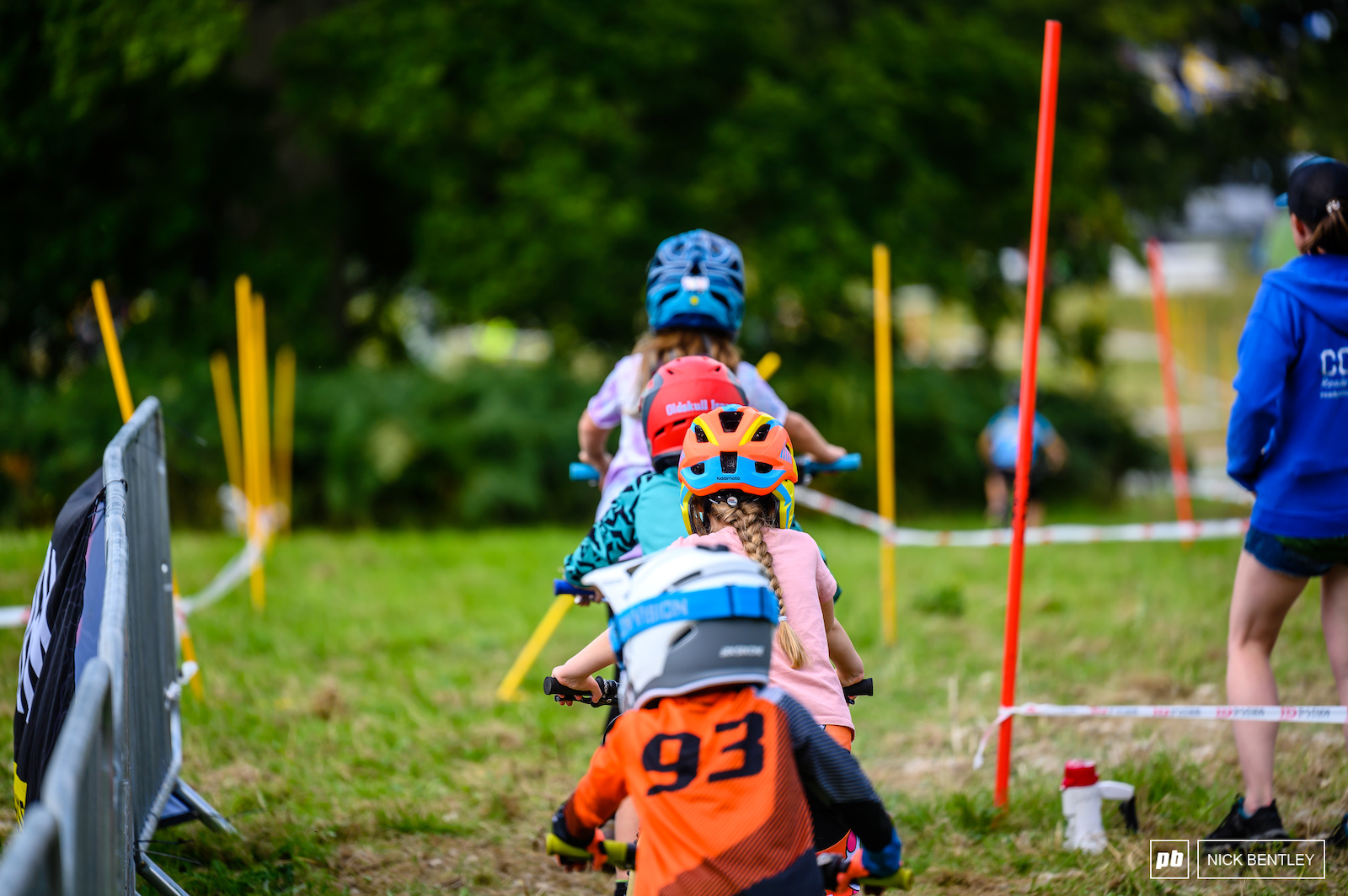 Riders of all sizes raced at the Dual Slalom
