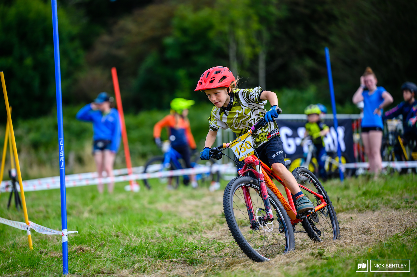 Even the young riders were setting up straight lines through the Slalom course