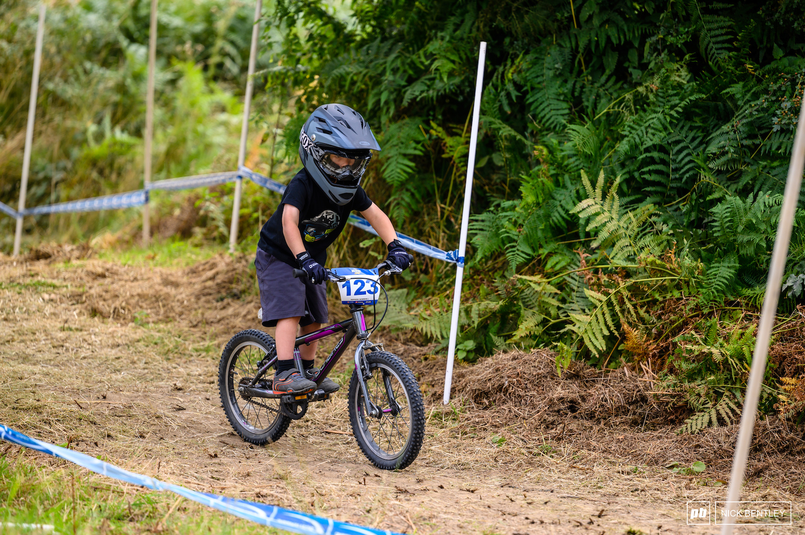 Tackling the track on these tiny bikes was no easy feat