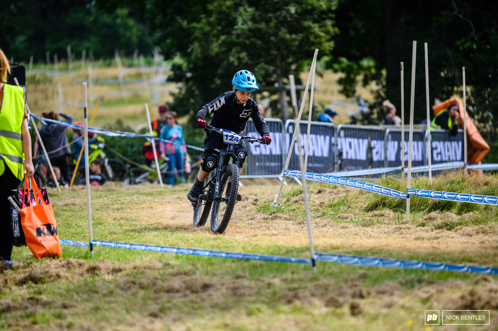 The Pinkbike Rippers Downhill started at the Bombhole on the adult s course allowing the kids to get a taste of what their parents raced on