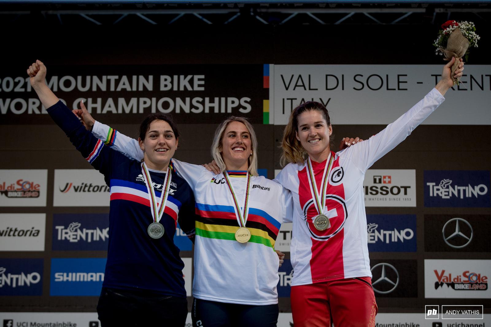 Your Elite Women s podium - 1st Myriam Nicole 2nd Marine Cabirou 3rd Camille Balanche