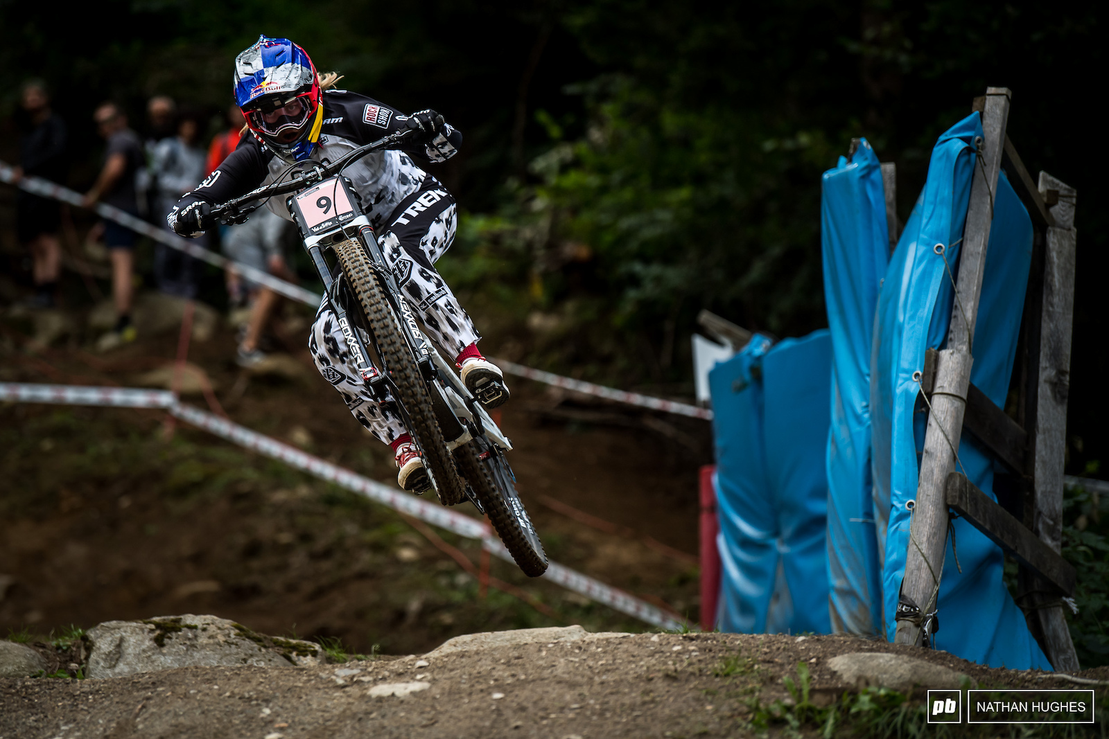 Top qualifier Valentina Holl fell foul of the slick track after a night of heavy rain mixed up conditions particularly for the womens race earlier in the afternoon.