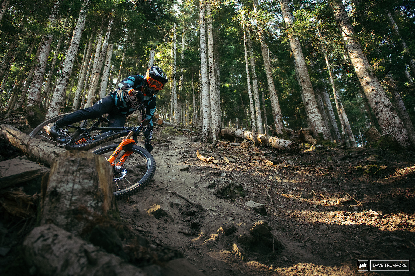 Steep and loose in the Loudenvielle woods