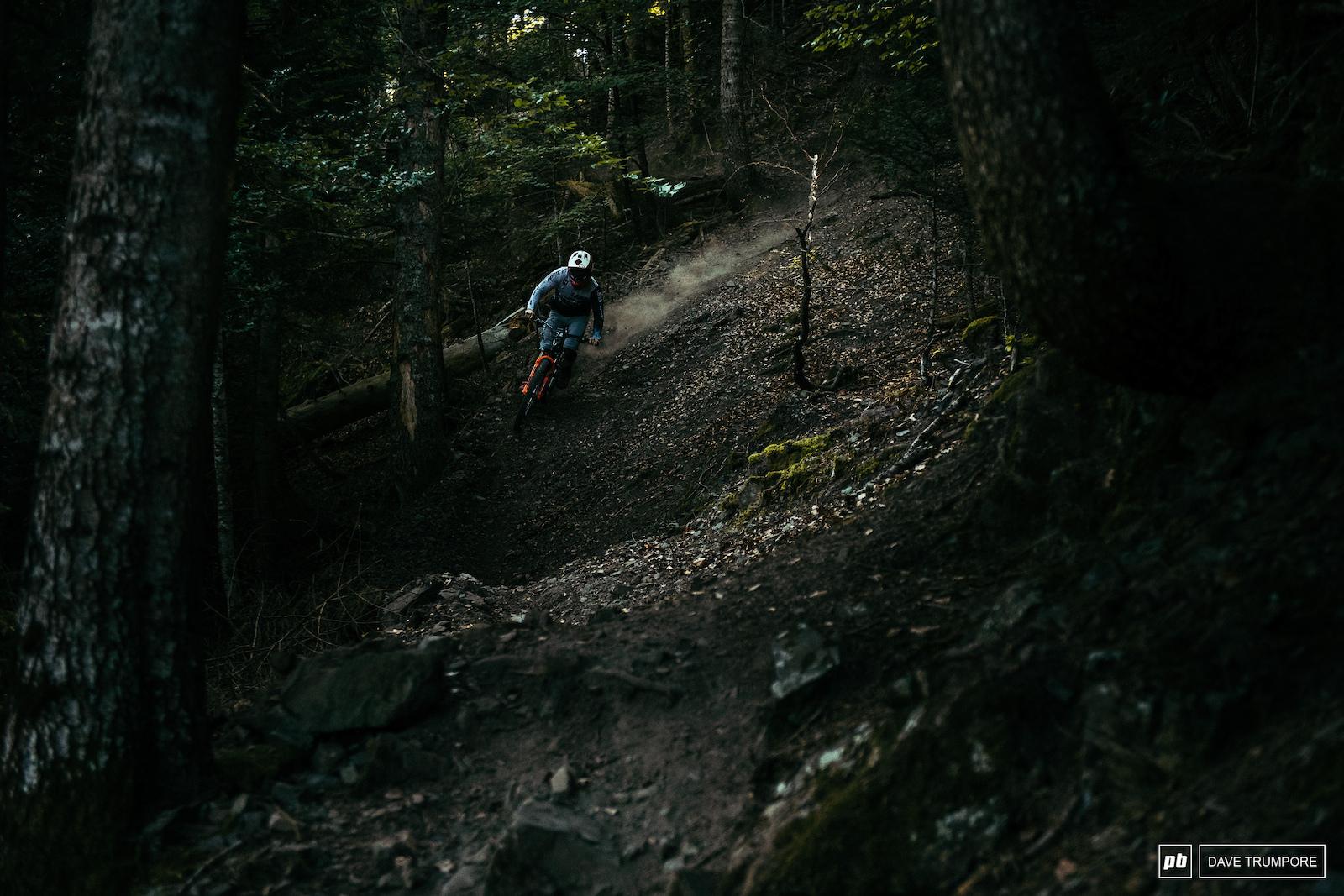 Keagan Wright through the dark forest