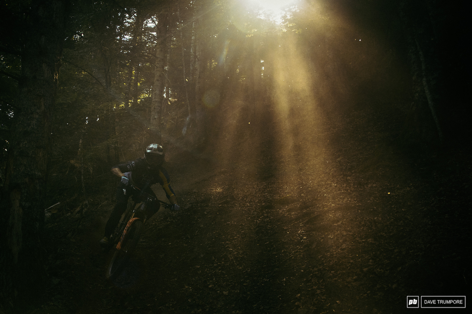 So much dust and light bro in the woods when things were dry