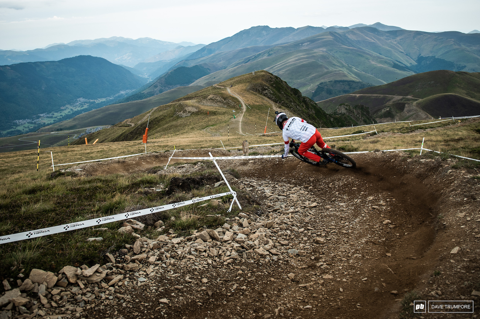 Florian Nicolai on top of Stage 1