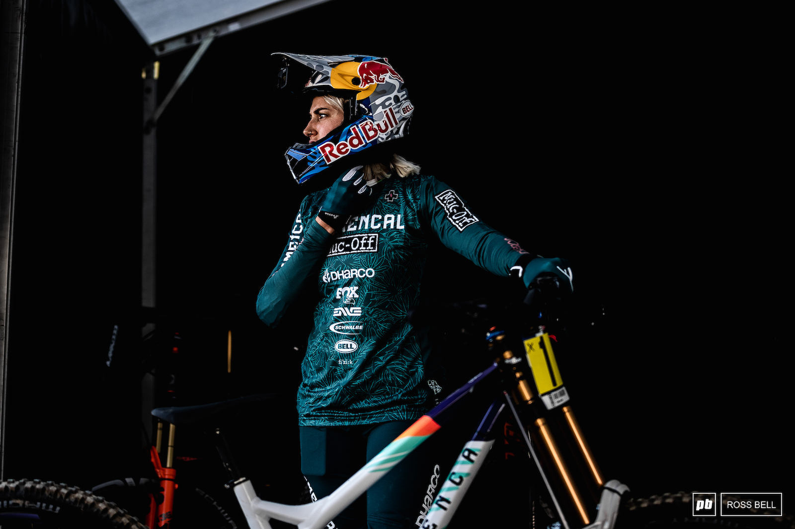 Myriam Nicole heads back into the pits after her first few practice runs early this morning.