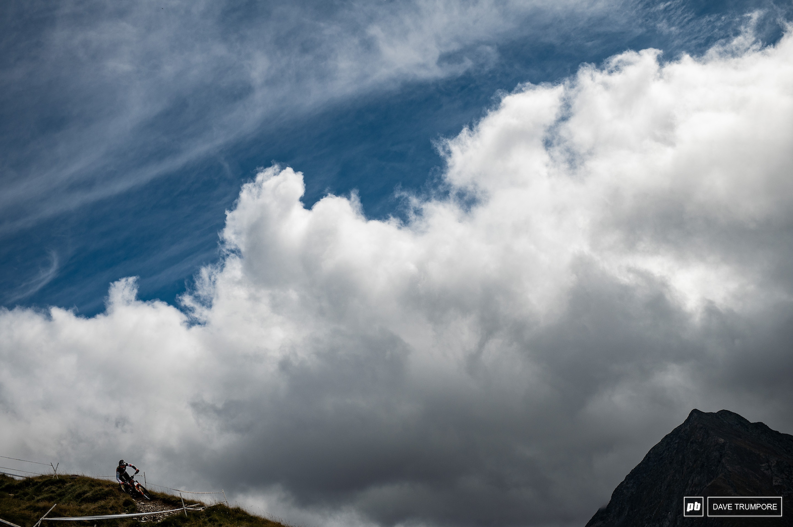 Remi Gauvin against the dramatic sky