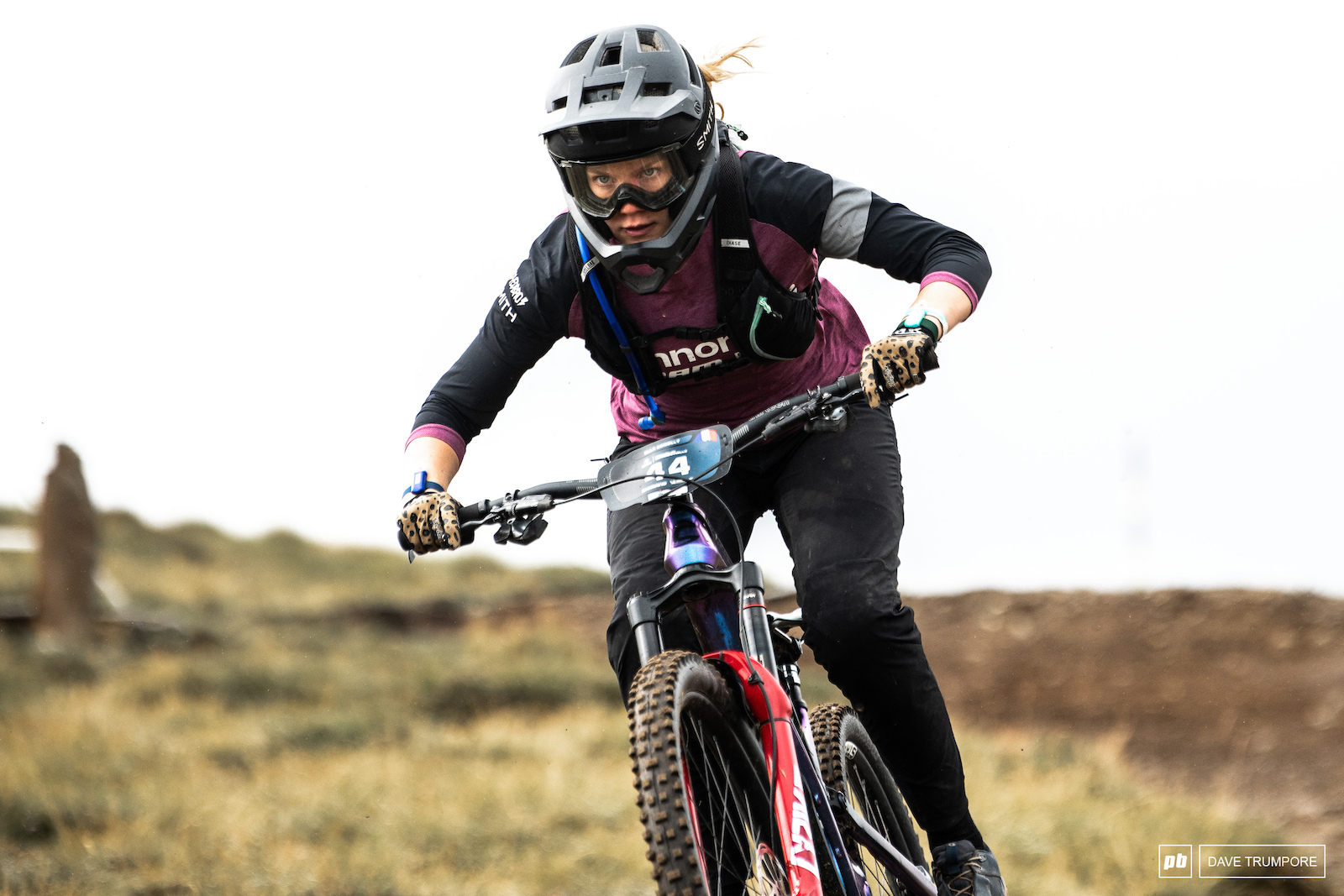 Ella Connolly high above the trees on stage 2