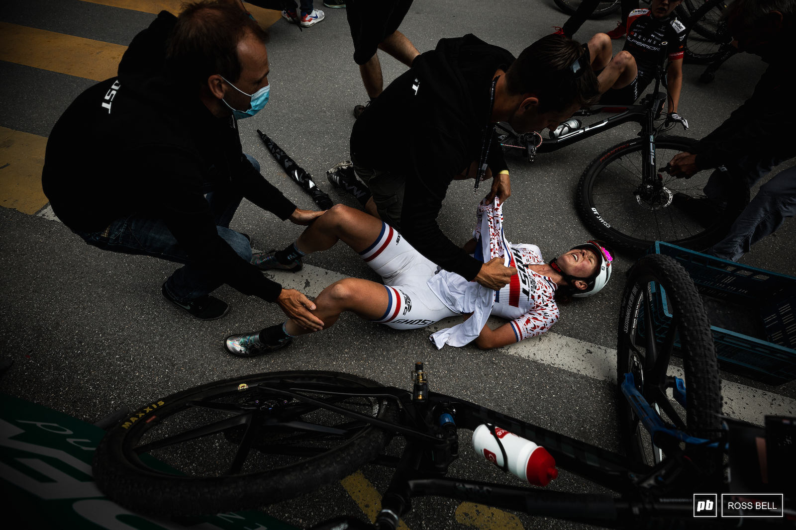 Anne Terpstra deep in the pain cave.