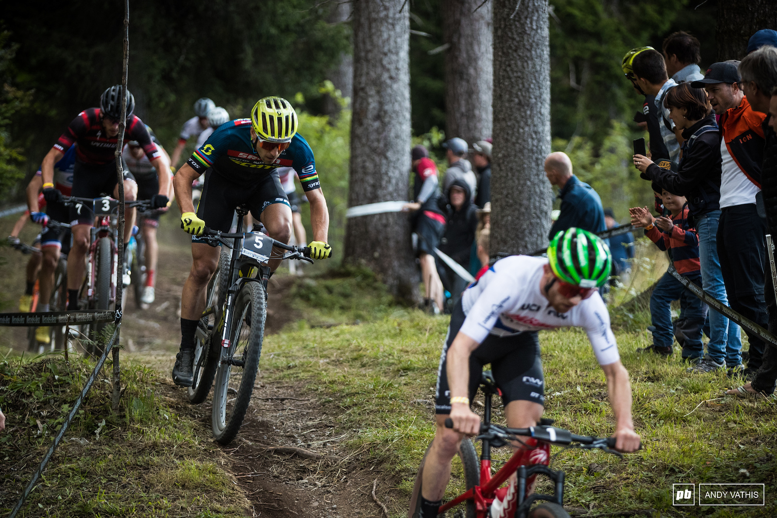 Nino Schurter matches his number board with more fight for Sunday.