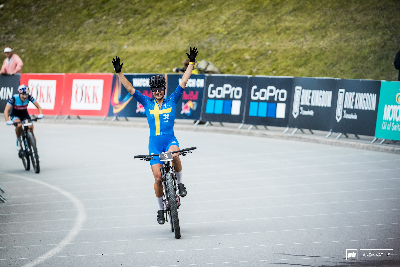 Jenny Rissveds takes the win.