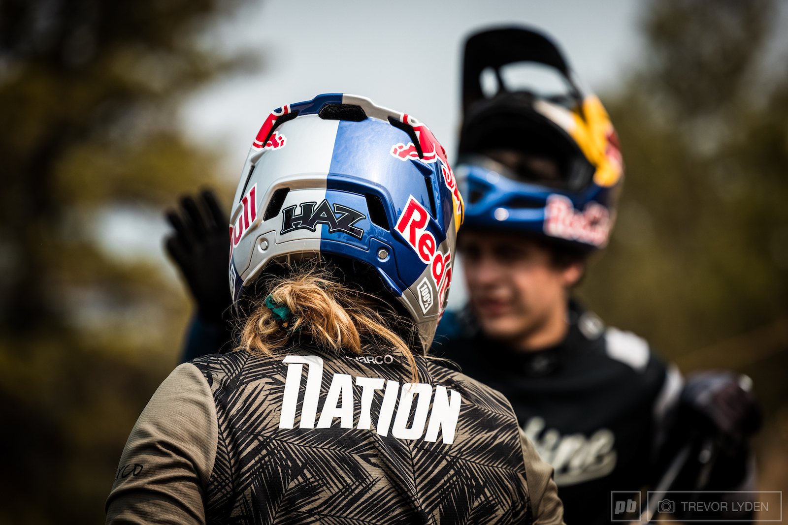 Red Bull athletes Harriet Burbridge-Smith and Carson Storch sharing line beta.