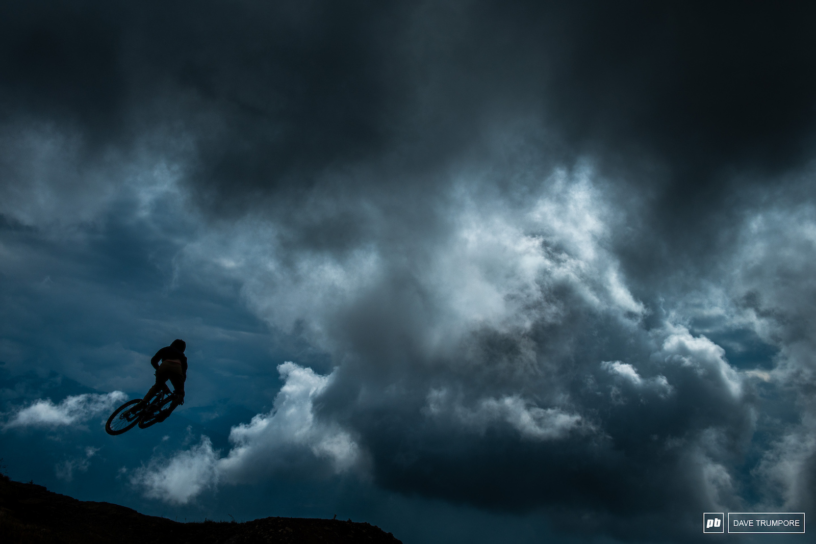 Stormy skies made for a dramatic backdrop on Stage 5