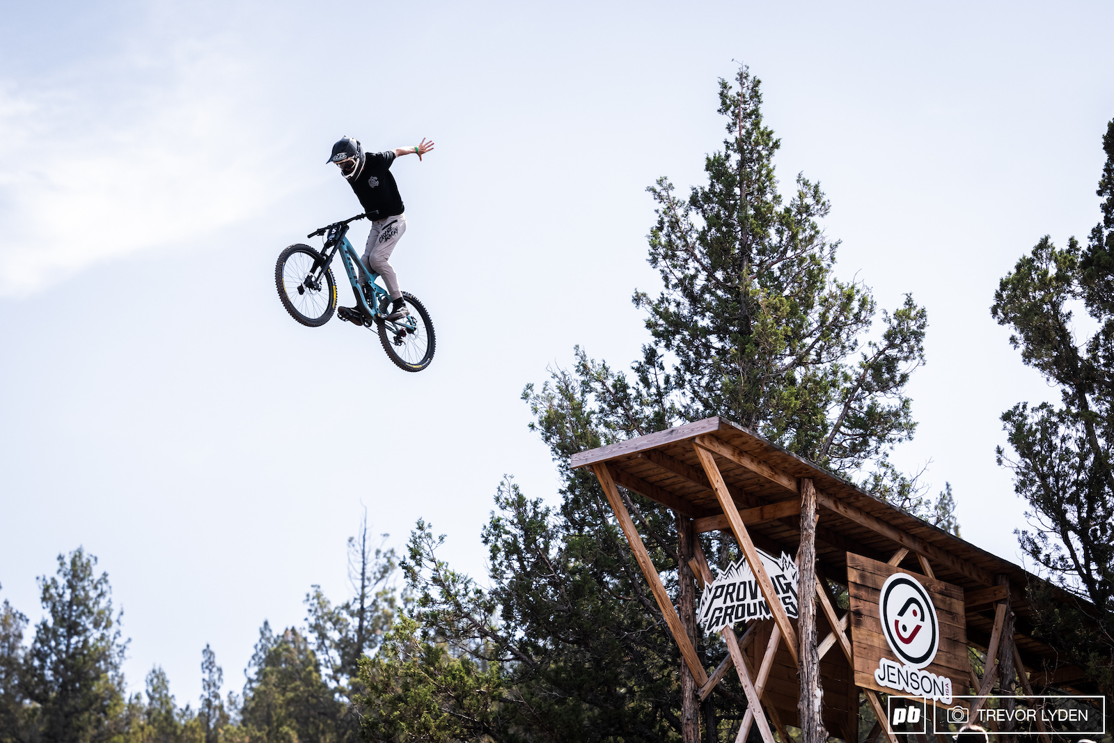 Ryan. Doing a suicide. On a bike. Off a drop.