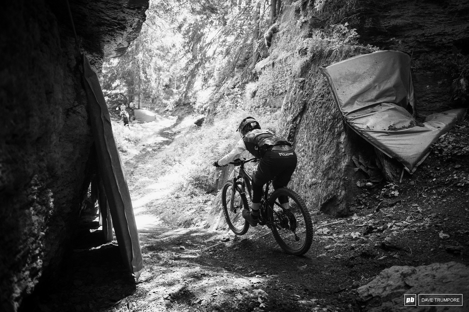 Isabella Naughton out of the steep gully on Stage 3