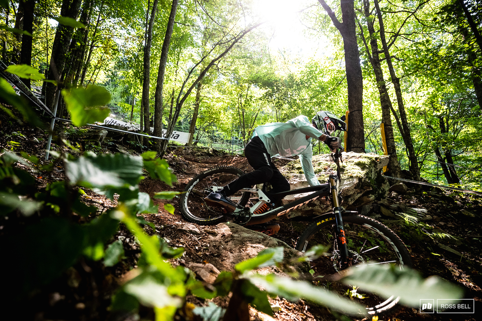 Florent Payet underneath the green canopy of the West Virginia forests.