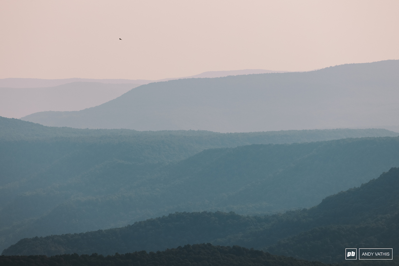Layers in the West Virginian haze.
