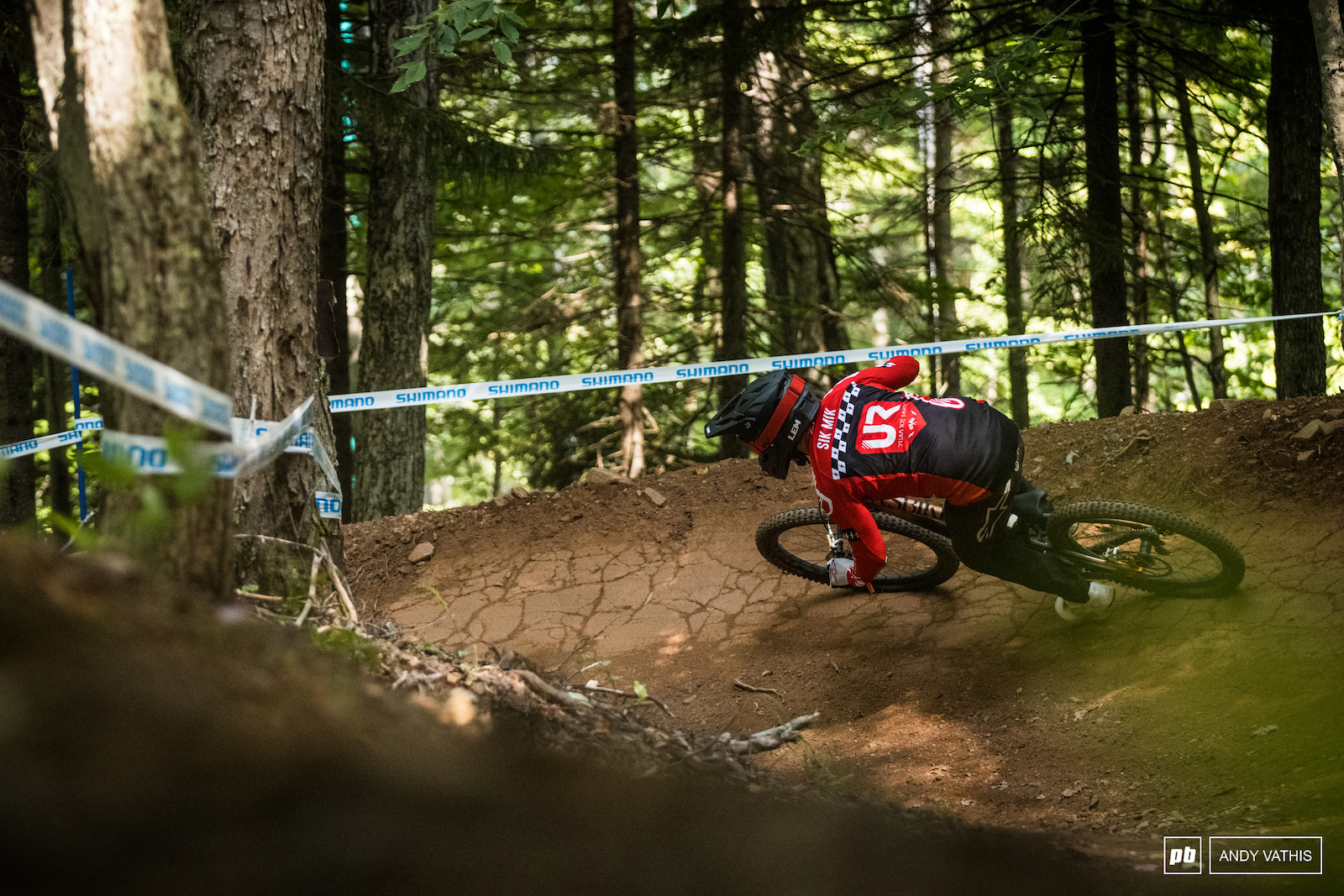 Mick Hannah around the high speed berms. 16th for him today.