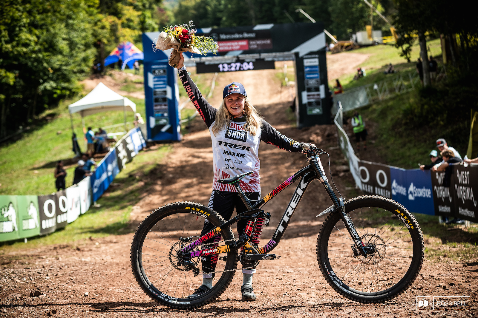 Vali Holl ecstatic to take her very first elite World Cup win.