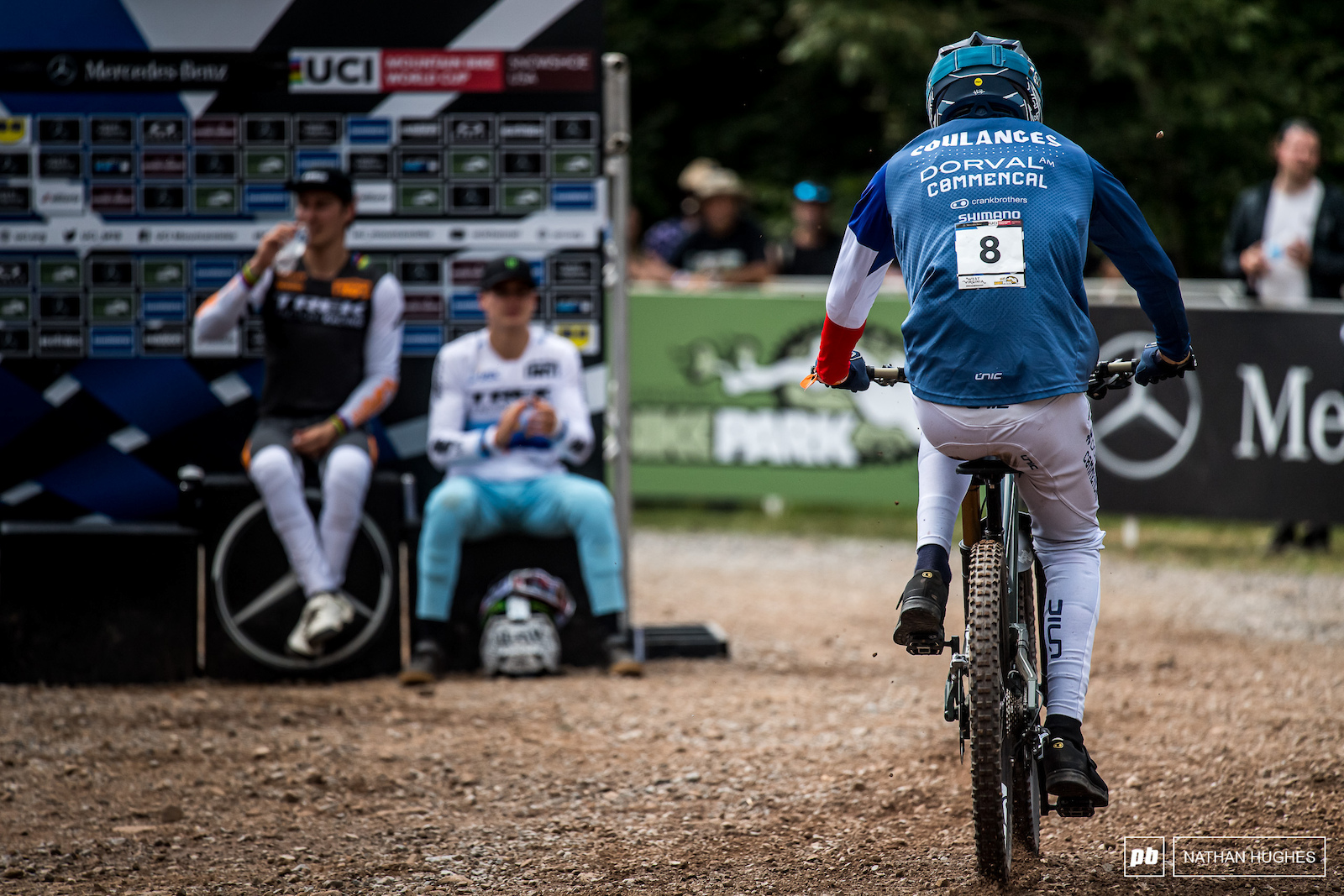 It s not over yet here in West Virginia for the French champ chasing his first win.