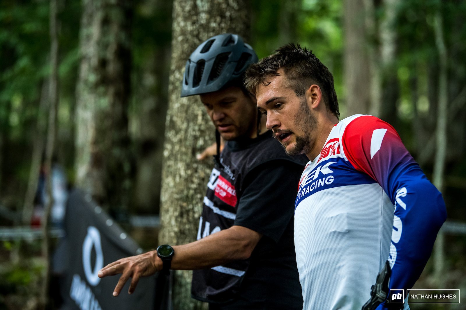 Andrew Shandro whispering the Rampage lines in Chuck s ear on his last lap before finals.