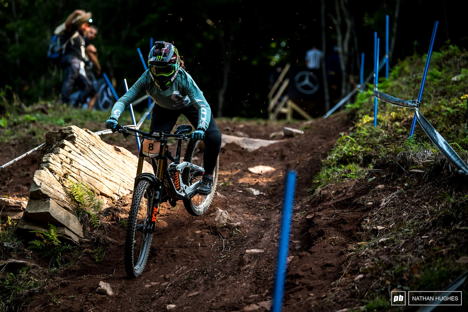 Cabirou dominated here back in 2019 so it was no surprise to see her hit the podium again albeut 5.7 seconds shy of the win.