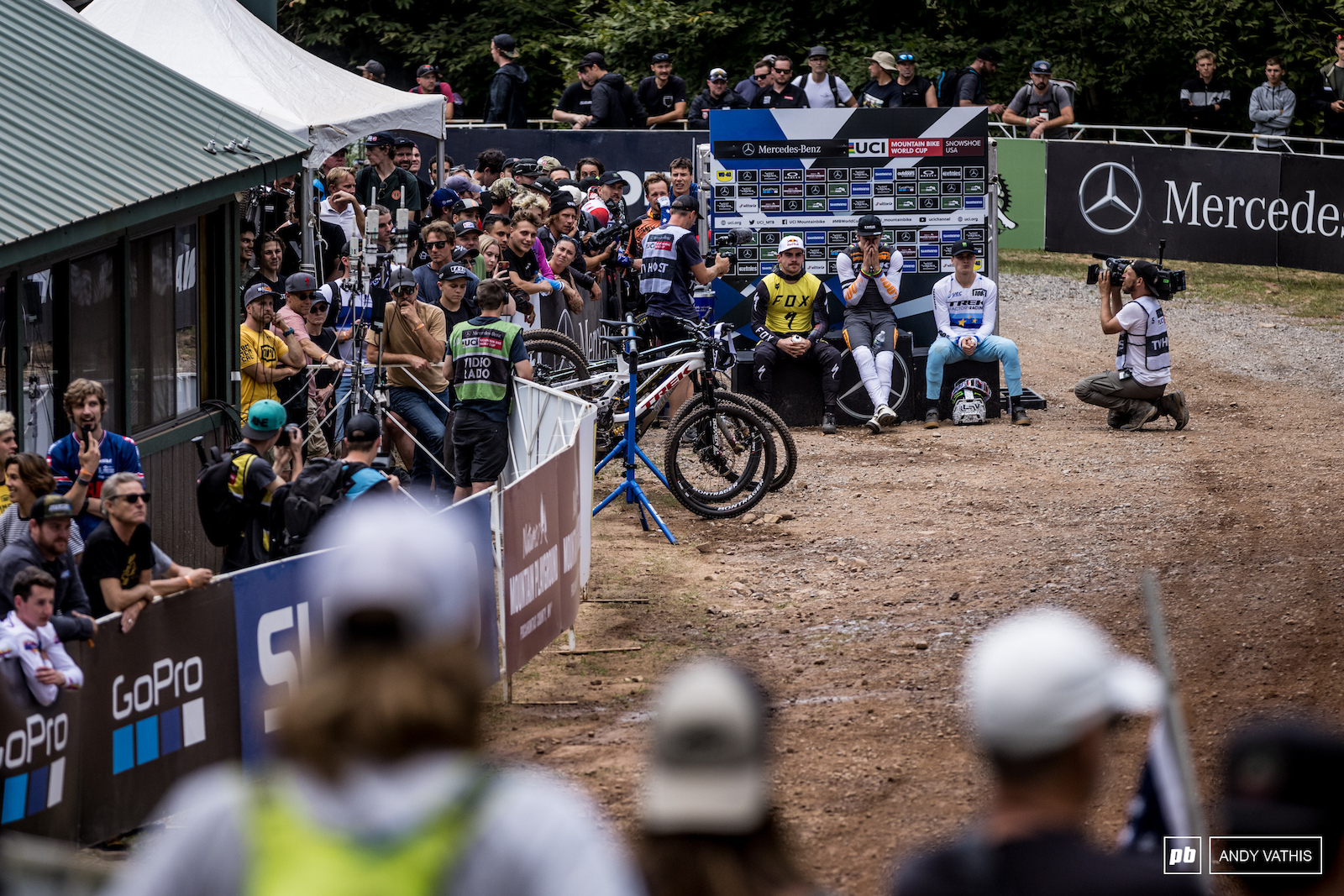 The tension on the hot seat was building with every passing rider.