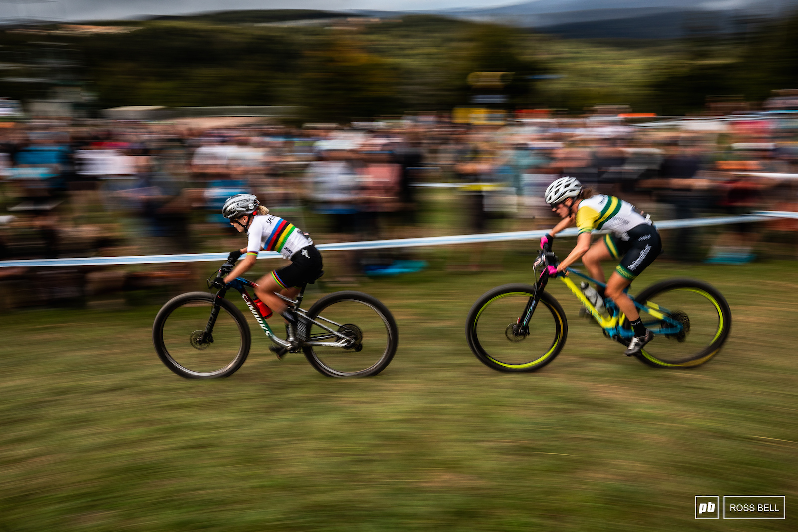 XCC World Champ Sina Frei with Rebecca McConnell in tow.