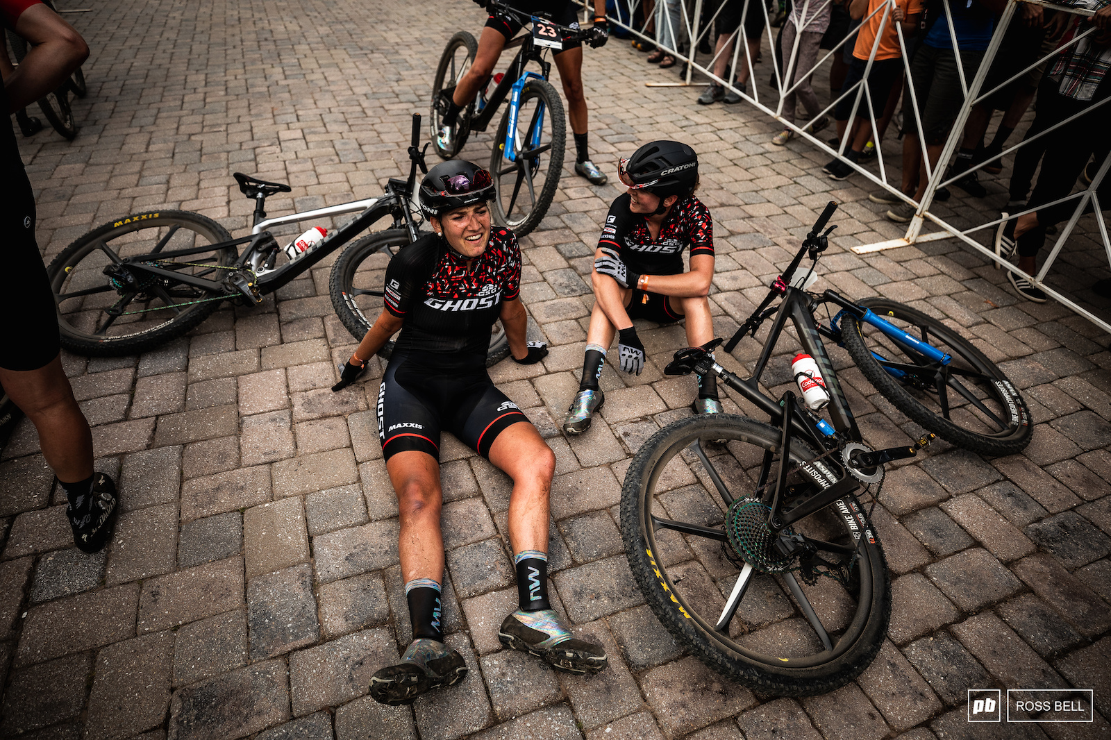 Nicole Koller catches up with her team mate Anne Terpstra after a strong ride into 6th.