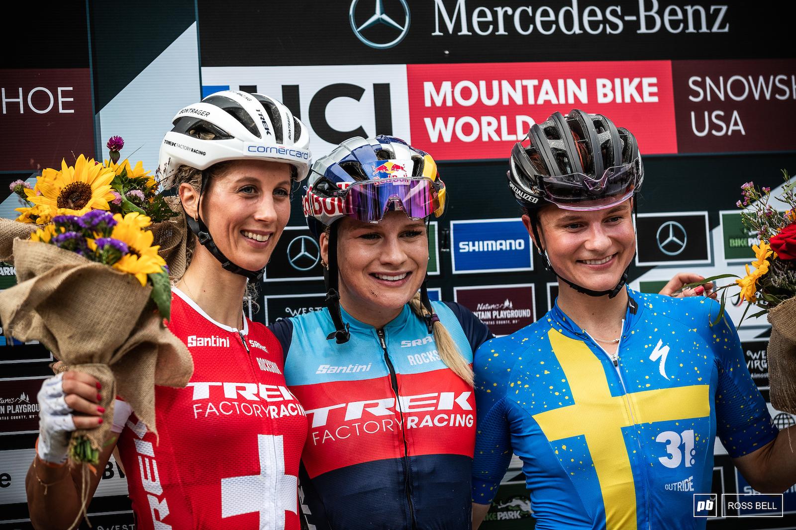 Your top 3 women 1st Evie Richards 2nd Jolanda Neff 3rd Jenny Rissveds.