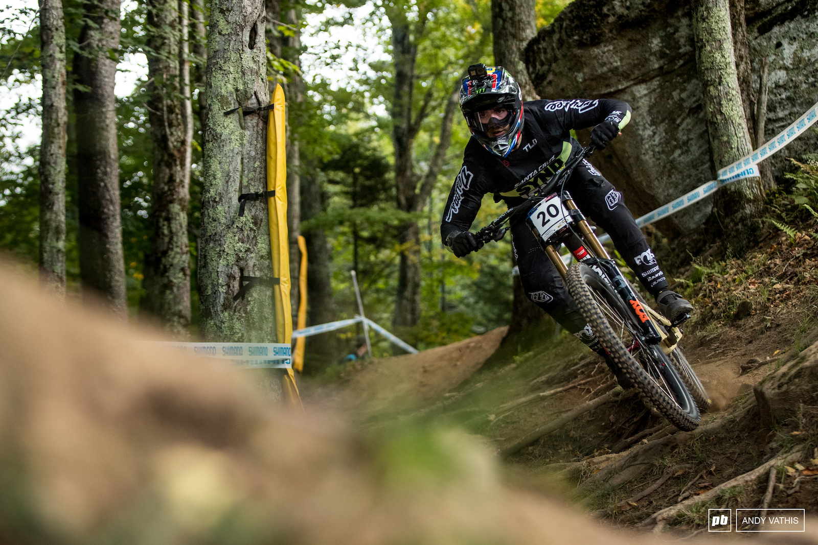 Luca Shaw found ways to smooth out the rock gardens and qualified sixth.