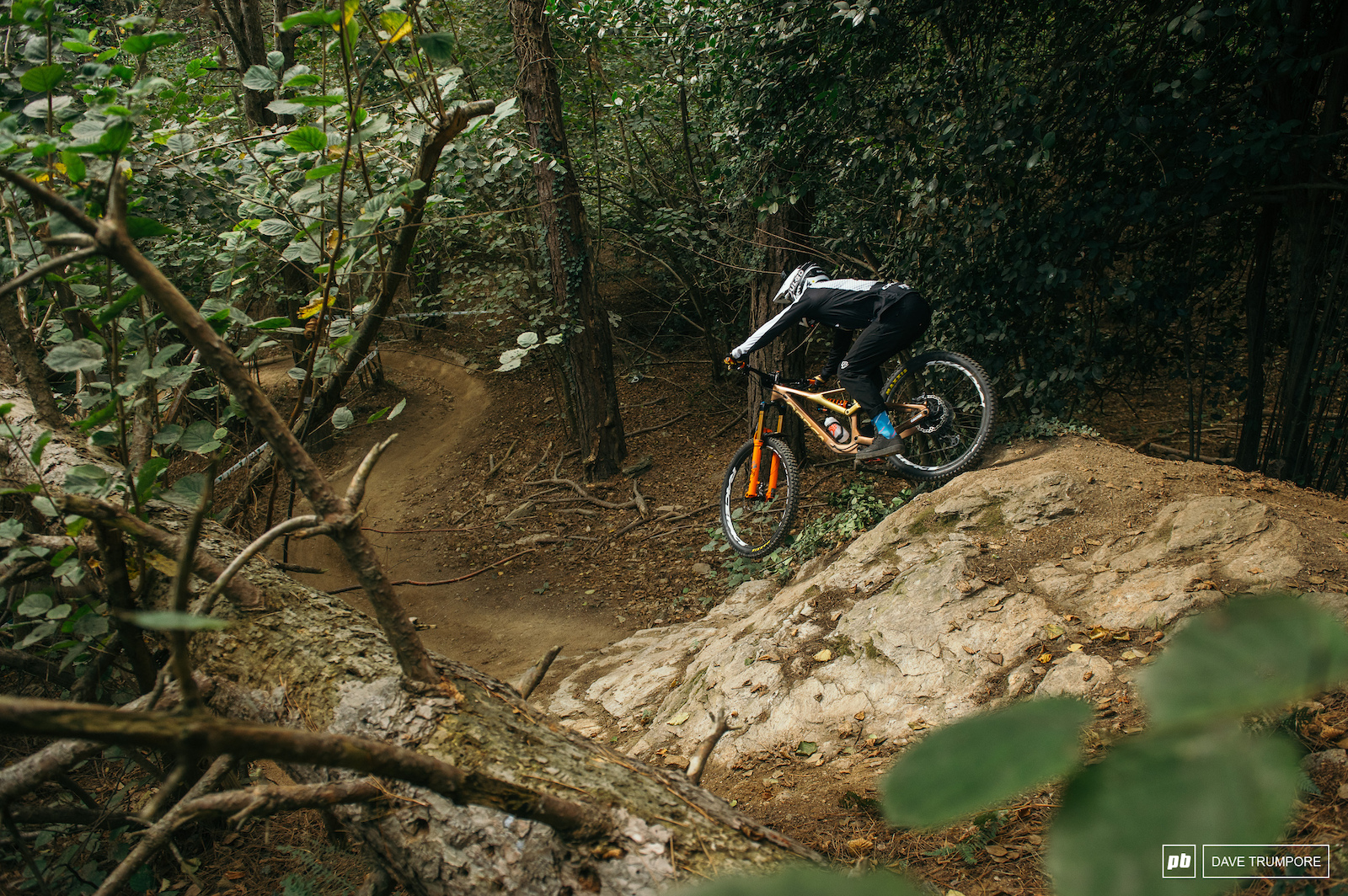 Damien Oton into the woods below the old NATO base