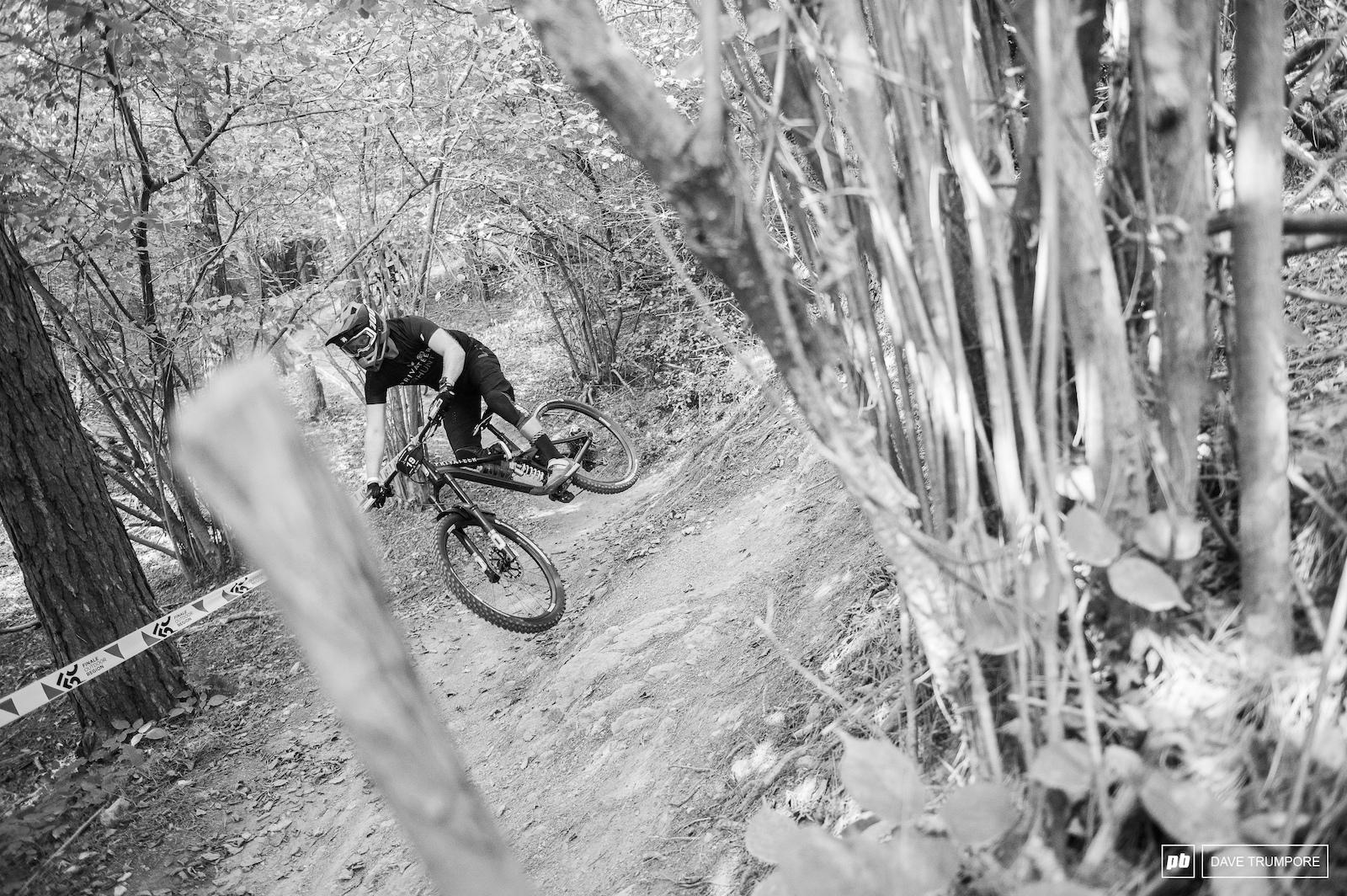 Matt Stuttard at the top of Stage 3
