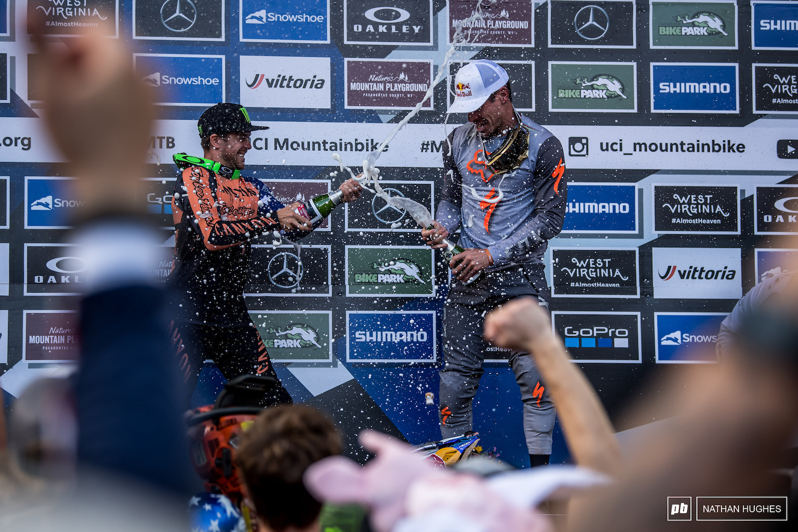 How many times have we seen these two beauties blasting the champagne