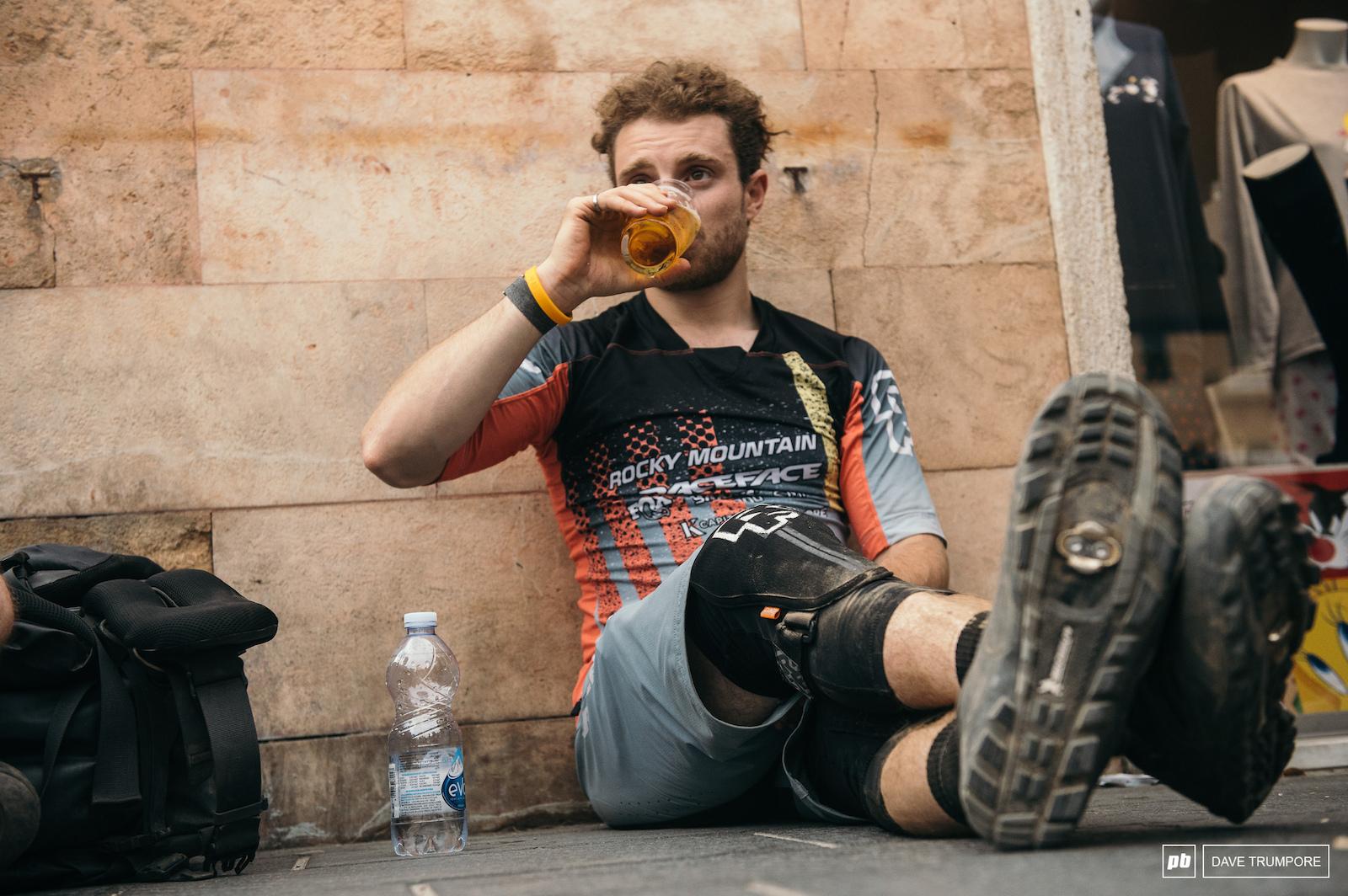 A hard earned beer for Jesse Melamed
