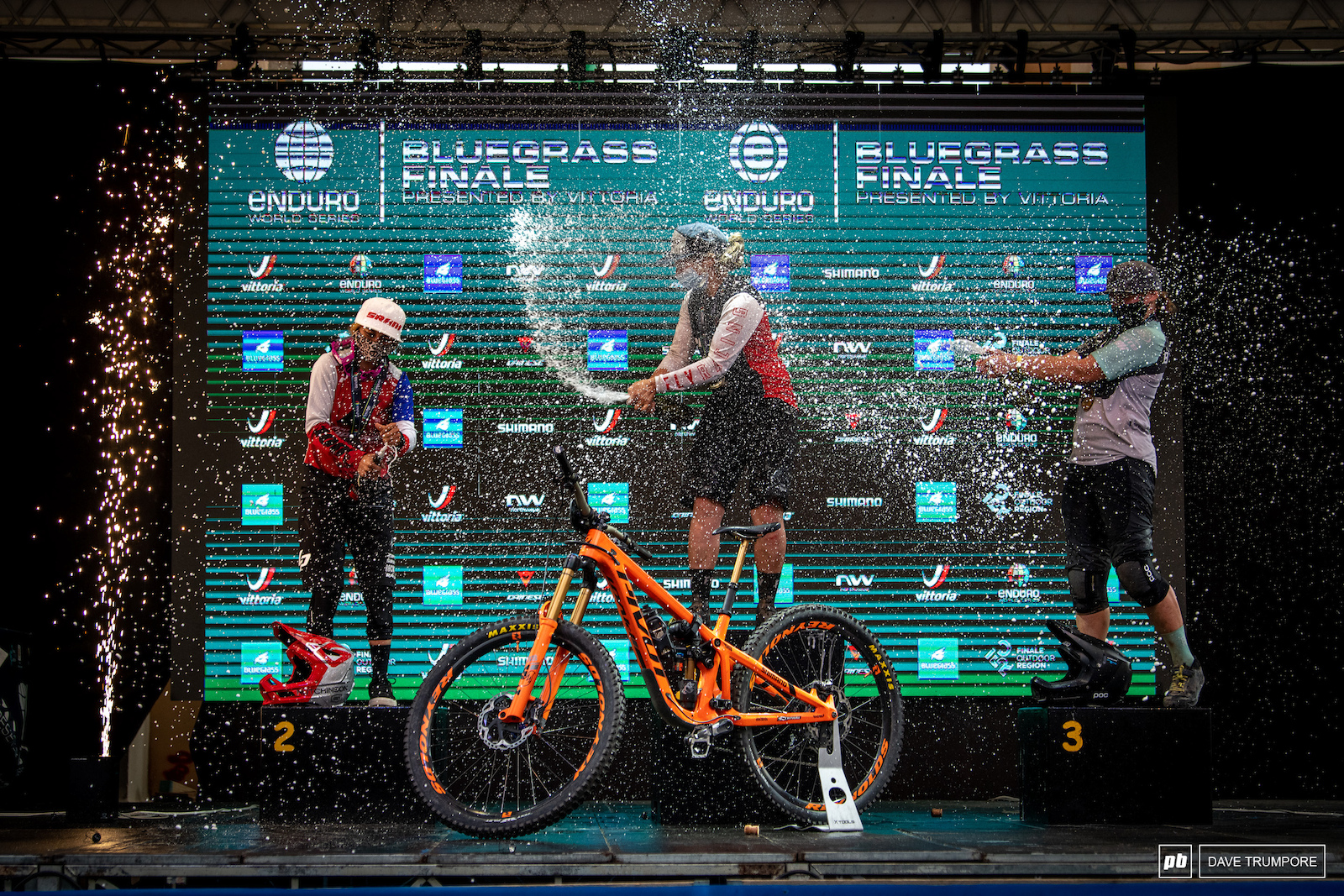 After a handful of podiums Morgane Charre took her first win of the year ahead of Isabeau Courdurier and Bex Baraona