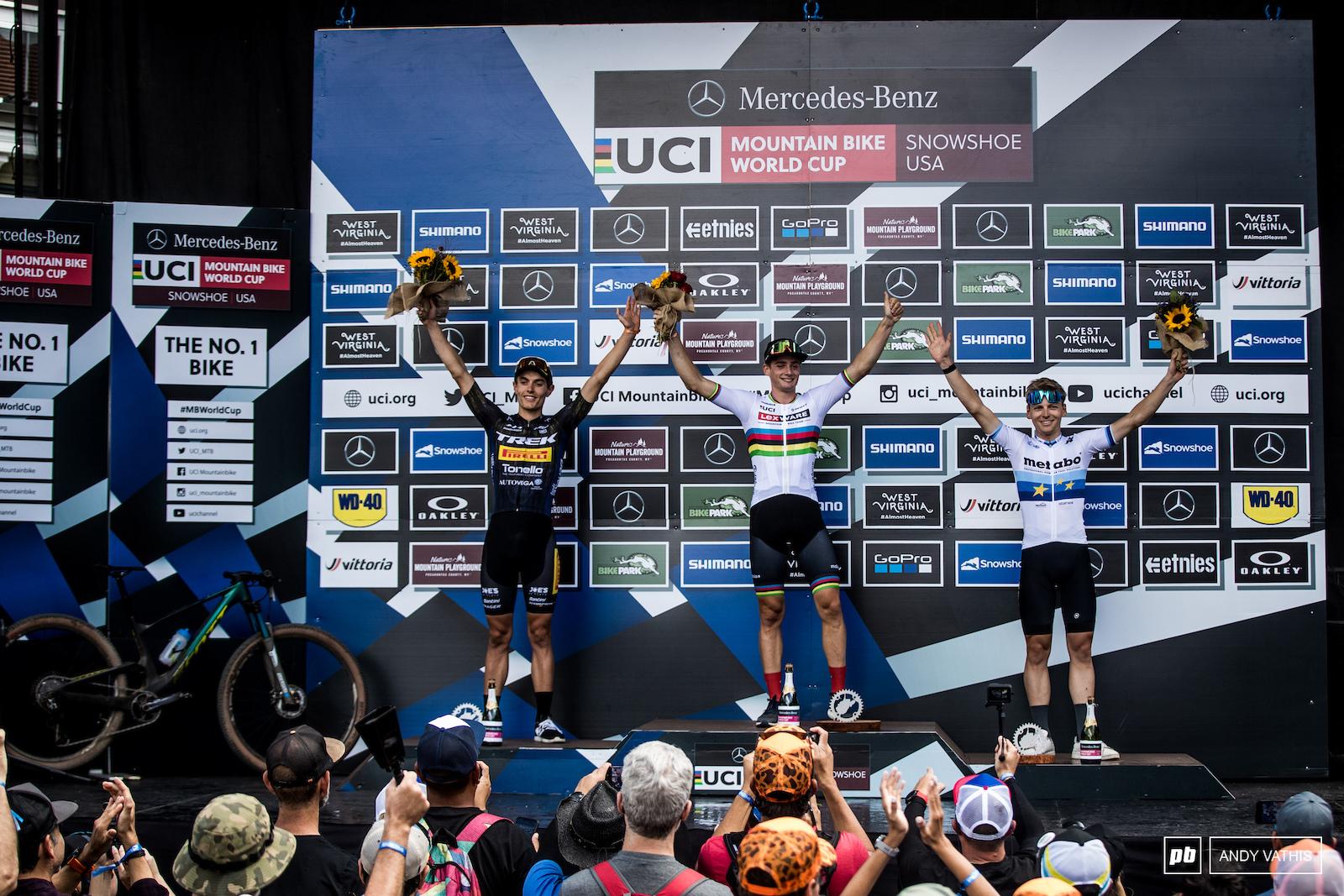 Your U23 men s podium 1st Martin Vidaurre Kossmann 2nd Simone Avondetto and 3rd Joel Roth