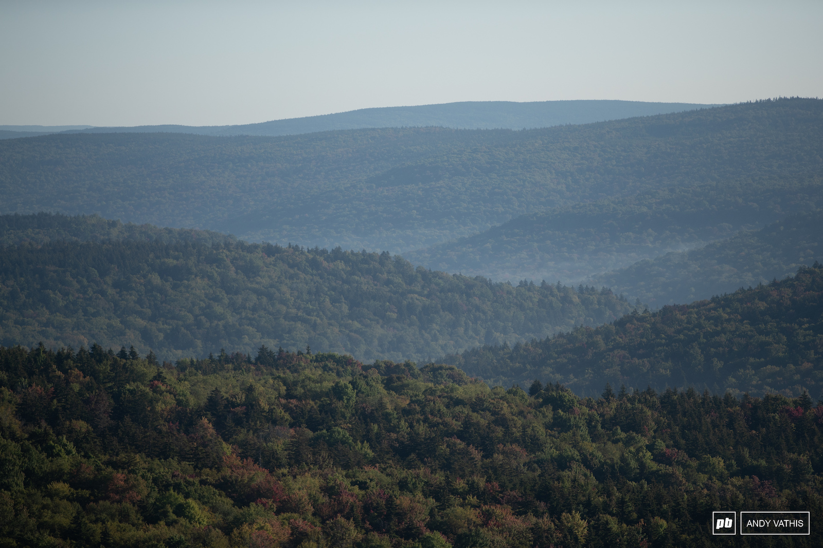 The back side view of Snowshoe and its rolling hills.