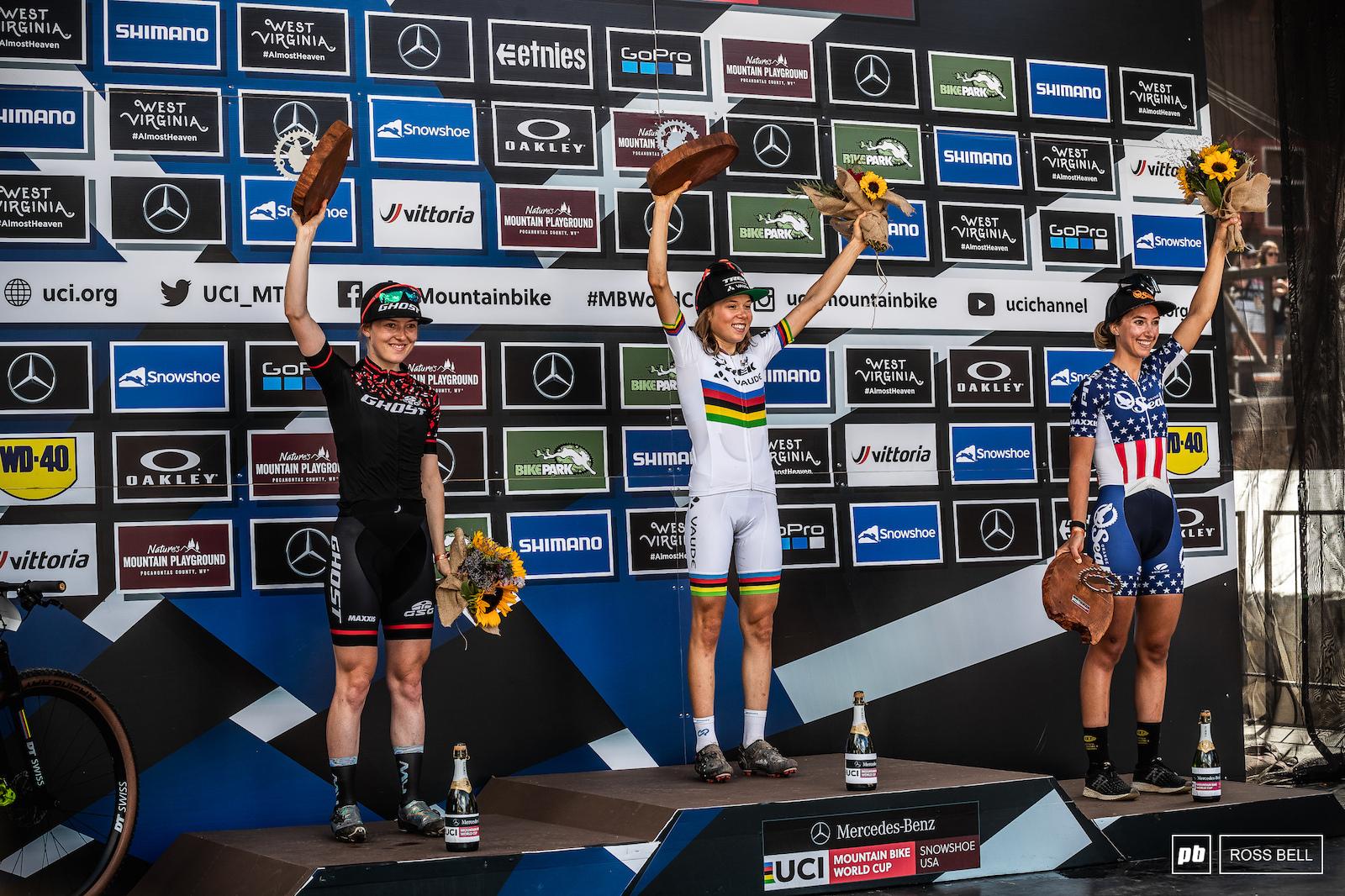 Mona Mitterwallner completes a perfect season as Caroline Bohe and Savilia Blunk round off the final junior women s podium of 2021.