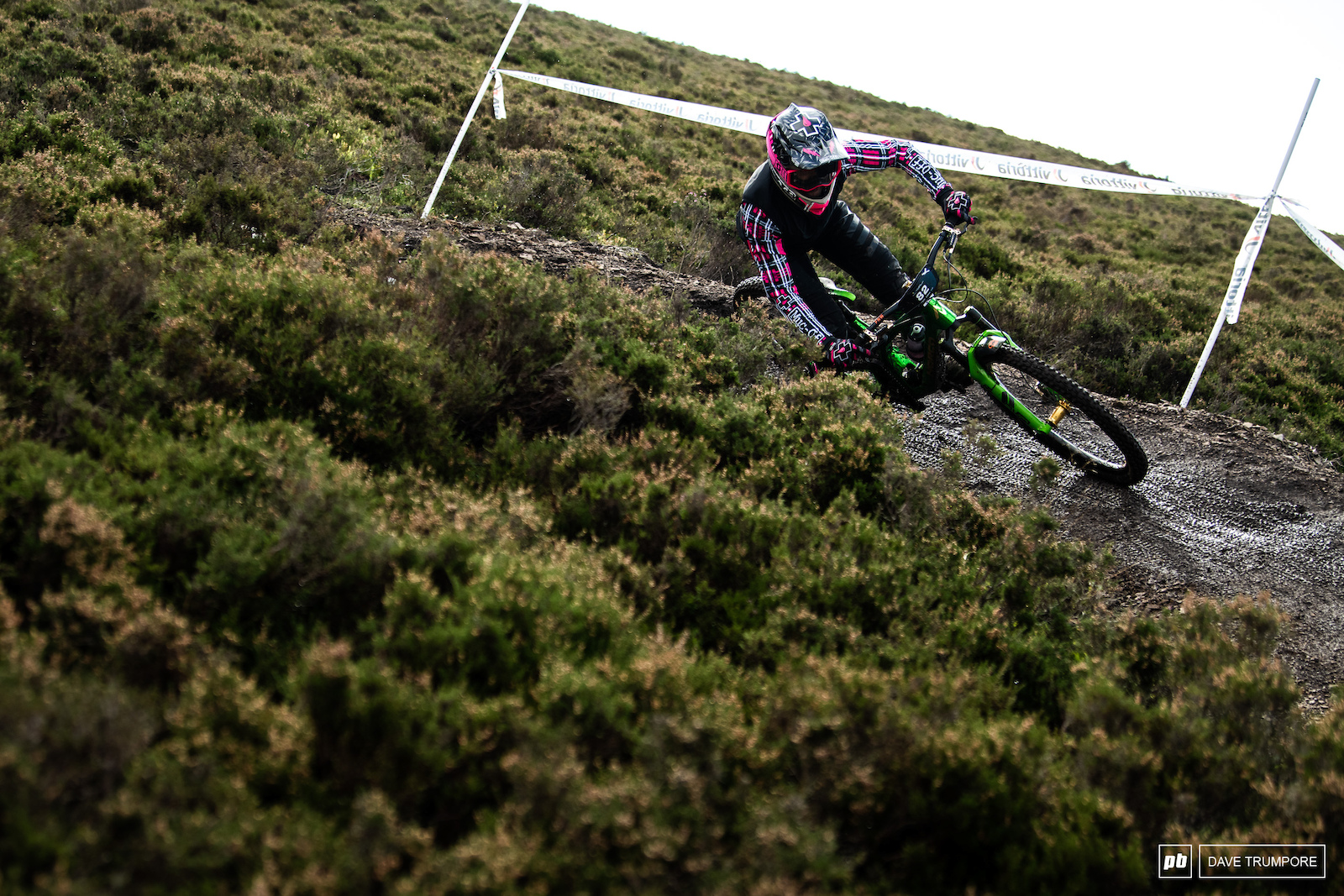 Lewis Buchanan is on home turf and looking fast at his first EWS race in almost two years