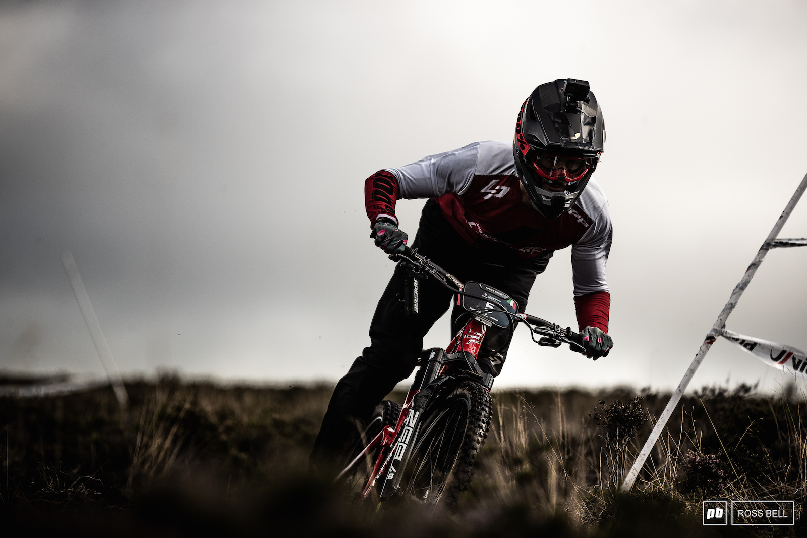 Adrien Dailly out on the open moorland atop The Golfie which plays hosts to the majority of this weekend s stages.