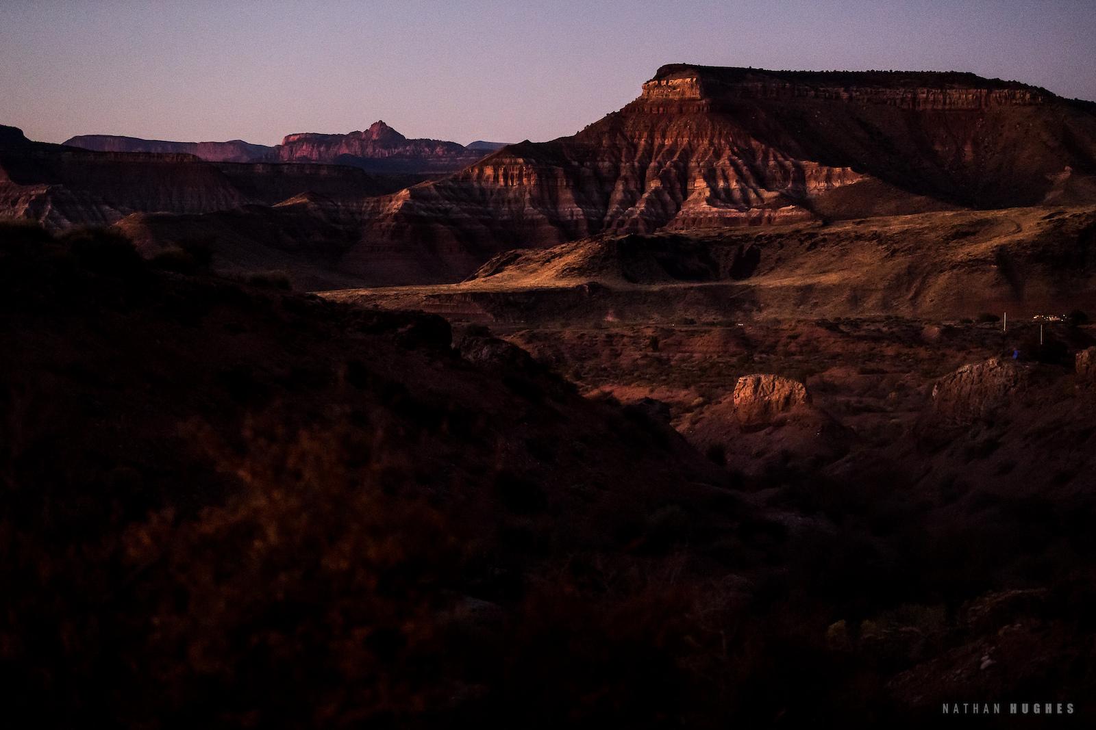 Goodnight from the desert.