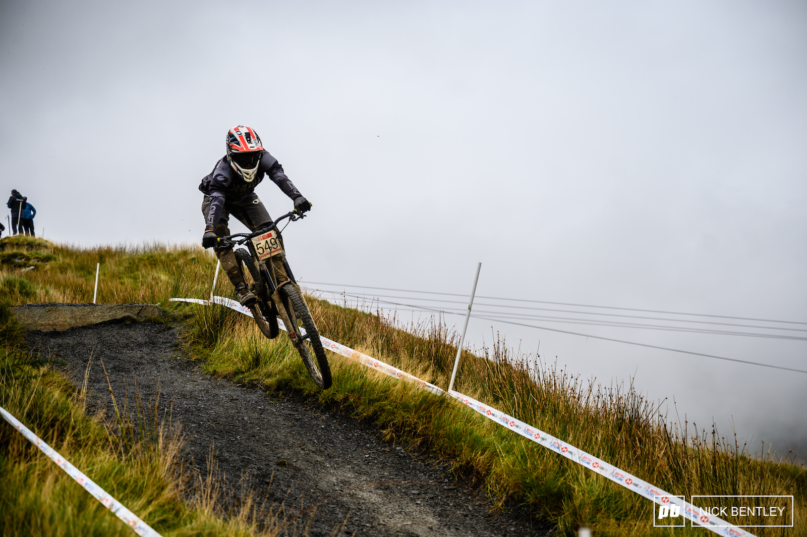Archie Casson having some fun on the upper section of the track