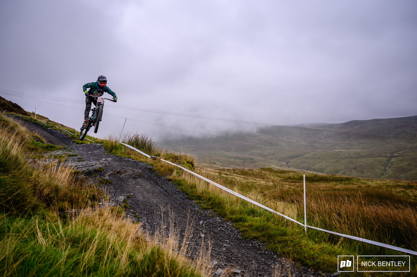 Plenty of riders choosing to press send on the various drops littering the Antur Stiniog track