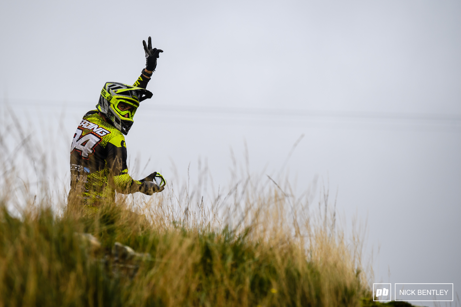 Jack Reading with a quick goggle clean whilst being held under on one of the many red flag holds of the day