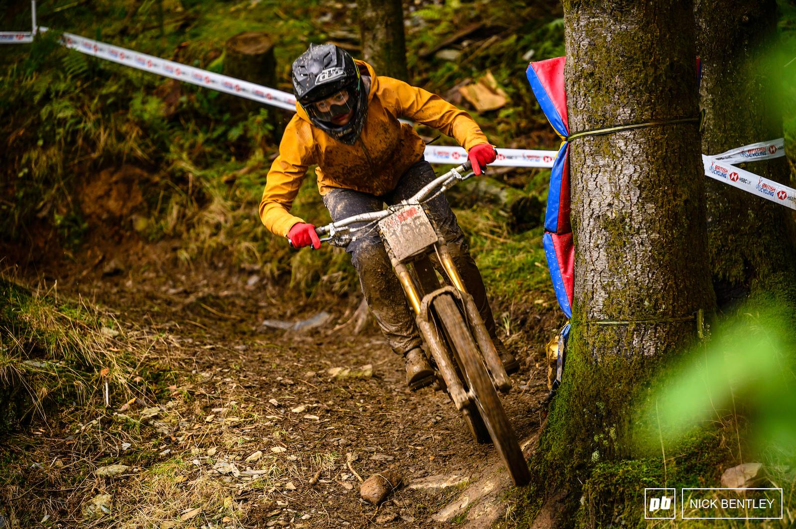 Alison Tutt having fun in the mud