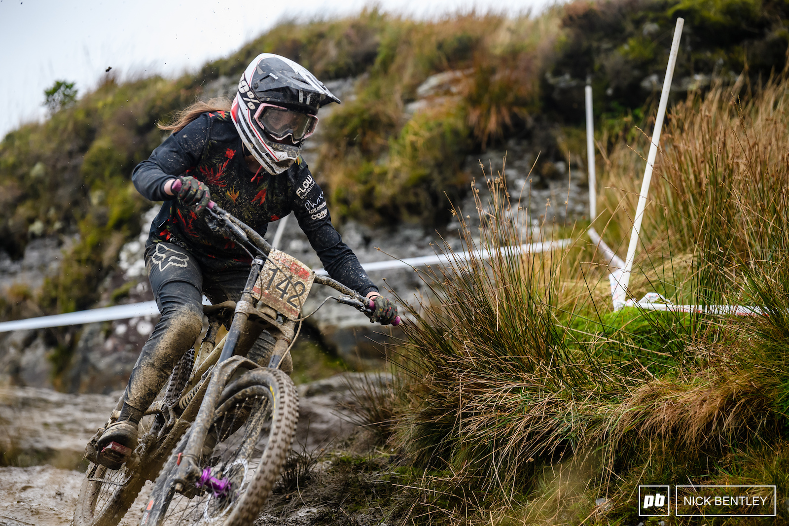 Plenty of mud covered riders from various offs throughout the day