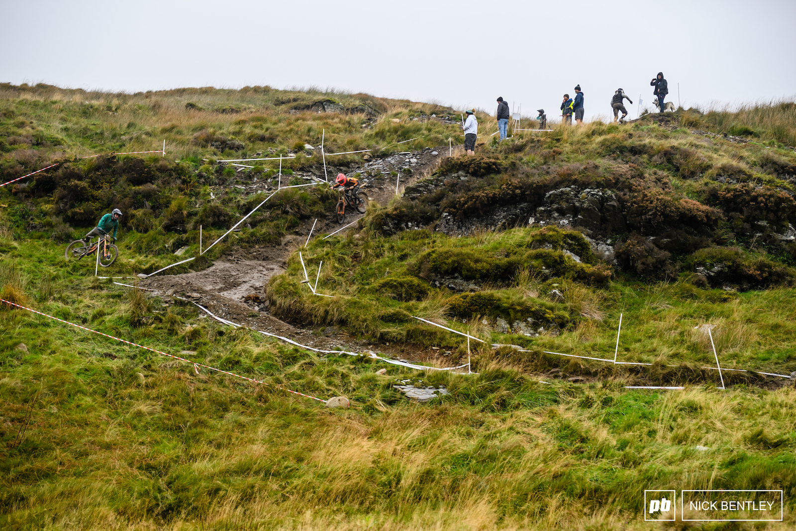 There were plenty of riders ending up in the B zone below this chute